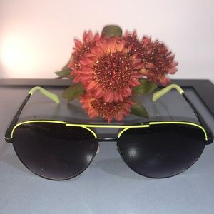 American Eagle Outfitters ~ Green Frame Aviators